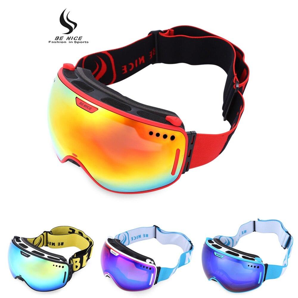 Prix pour Vente chaude Professionnel Ski Lunettes Double Lentille UV400 Anti-brouillard Adulte Snowboard Ski Lunettes Femmes Hommes Neige Lunettes Haute qualité