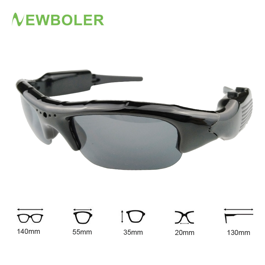 NEWBOLER Fishing Eyewear Camcorder 2 in 1 Digital Video Recorder Sunglasses UV400 Outdoor Sport Camera Glasses For Men Fishing
