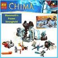 Совместимость Legoes Chimaed Mammut Мамонта Опорный Пункт 70226 Строительные Кирпичи БЕЛА 10356 Маула Племя Игрушки Детей