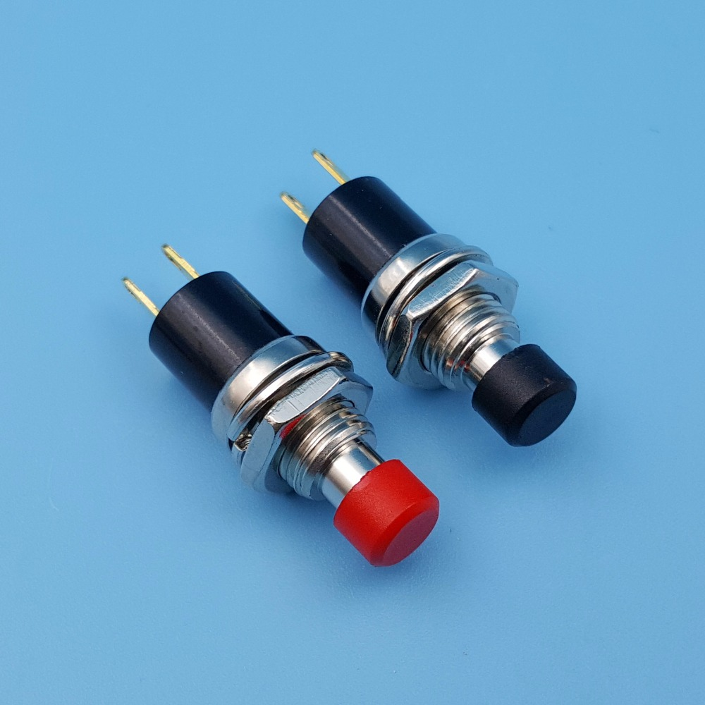 5Pcs PB05A 7mm ON OFF Maintained 2Pin 1NO SPST Mini Push Button ...