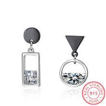 Серьги из серебра 925 пробы весенние асимметричные серьги кисточки