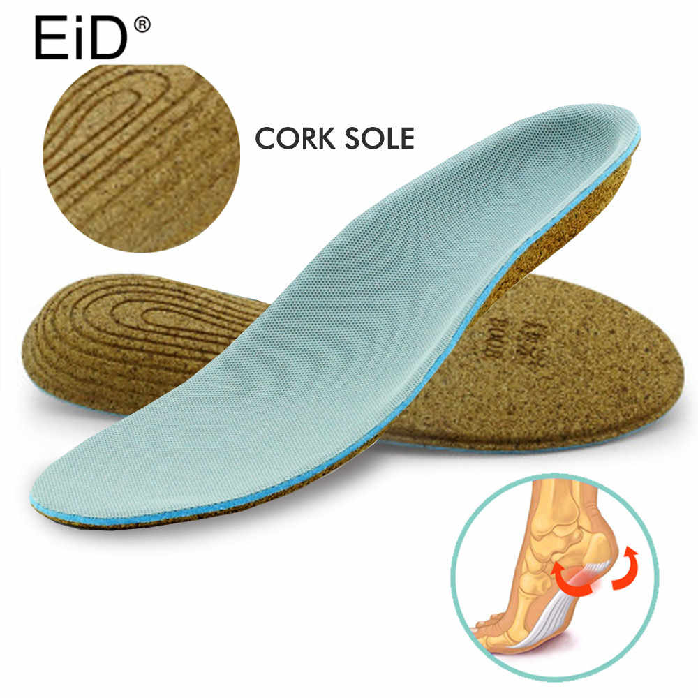97d7cddcc8 EID Eva Orthopedic Insoles Cork sole Adult Flat Foot Arch Support Orthotic  Pads Correction Health Feet