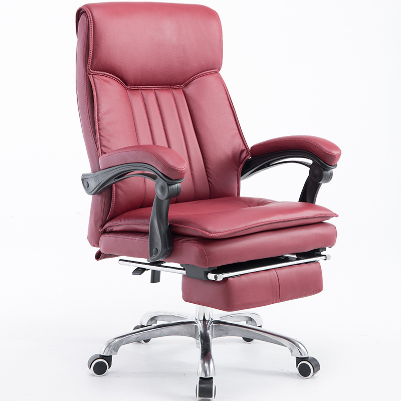 High Quality PU Ergonomic Executive Office Chair Fashion Household Computer Chair With Footrest Lying Swivel Boss Chair 240337 ergonomic chair quality pu wheel household office chair computer chair 3d thick cushion high breathable mesh