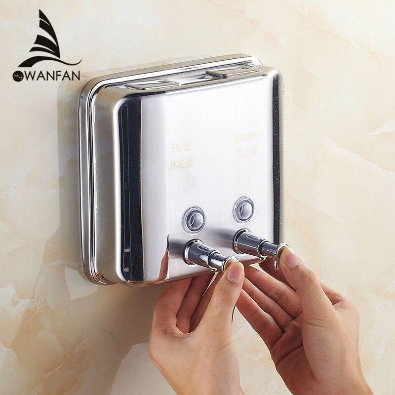 Liquid Soap Dispensers 1500ml Stainless Steel Touch Soap Dispenser Square Bathroom Kitchen Dispenser For Liquid Soap WF-18021 уровень курс 18021