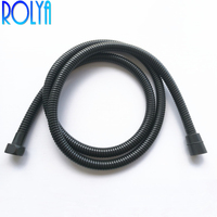 Rolya Black Shower Hose Plumbing Shower Tube Replacement 1.5 Meters 2018 Wholesale New Arrival High Quality