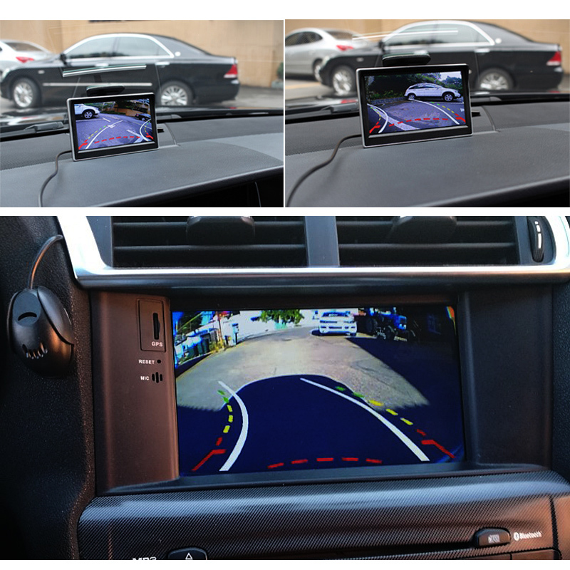 GreenYi Intelligent Dynamic Trajectory Tracks Parking Line Reverse Rearview Parking Camera For Mitsubishi Outlander 2007-2015 5