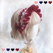 Tatlı El Yapımı Lolita Bonnet Headdress Dantel Başlığı