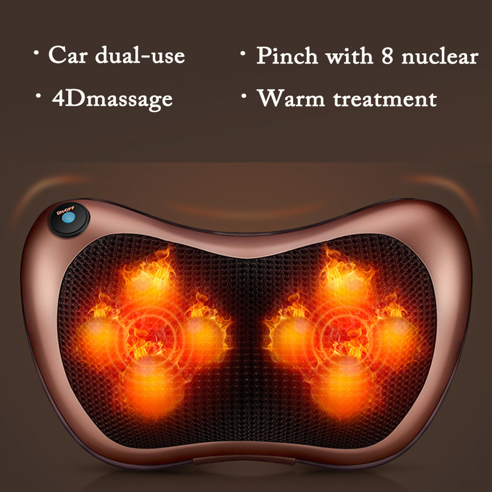 Atreus Car Styling 1pcs Protect Neck 4/8 balls Massage Pillows For Toyota Corolla Avensis RAV4 Yaris Auris Hilux Prius verso
