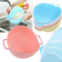 Двойная Ручка рисоварка средство для мытья риса ситечко кухонные инструменты фрукты овощи очистки контейнер корзина кухонный инструмент мытье