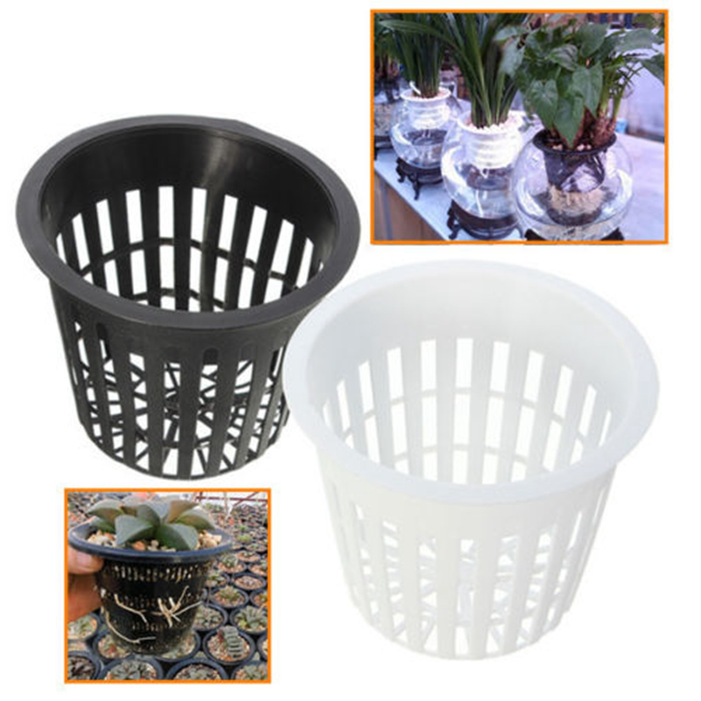 "10 Pcs <font><b>3</b></font>"" Heavy Duty Mesh Pot <font><b>Net</b></font> <font><b>Cup</b></font> Basket Hydroponic Aeroponic Planting Grow"