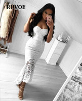 Summer Tube Top Lace Fishtail Strapless HL bandage dress Sexy evening Party Bodycon dress wholesale womens clothing LZ 20