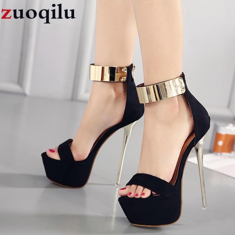 16CM high heels platform wedding party shoes women high heels ladies shoes sexy black high heels dress party pumps women shoes