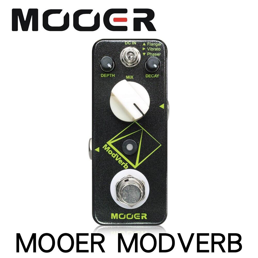 Mooer Modverb Modulation effet de réverbération guitare électrique pédale de profondeur contrôle de décroissance Flanger Vibrato Phaser commutateur