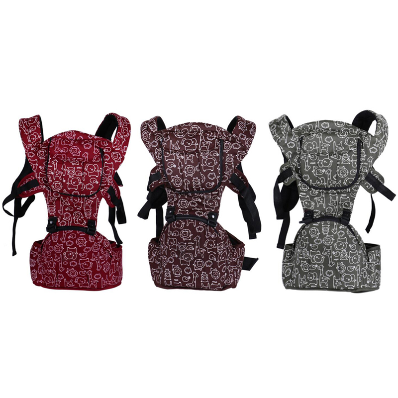 2016 Cotton Ergonomic Baby Carrier, Adjustable Front Facing Baby Sling with Activity...