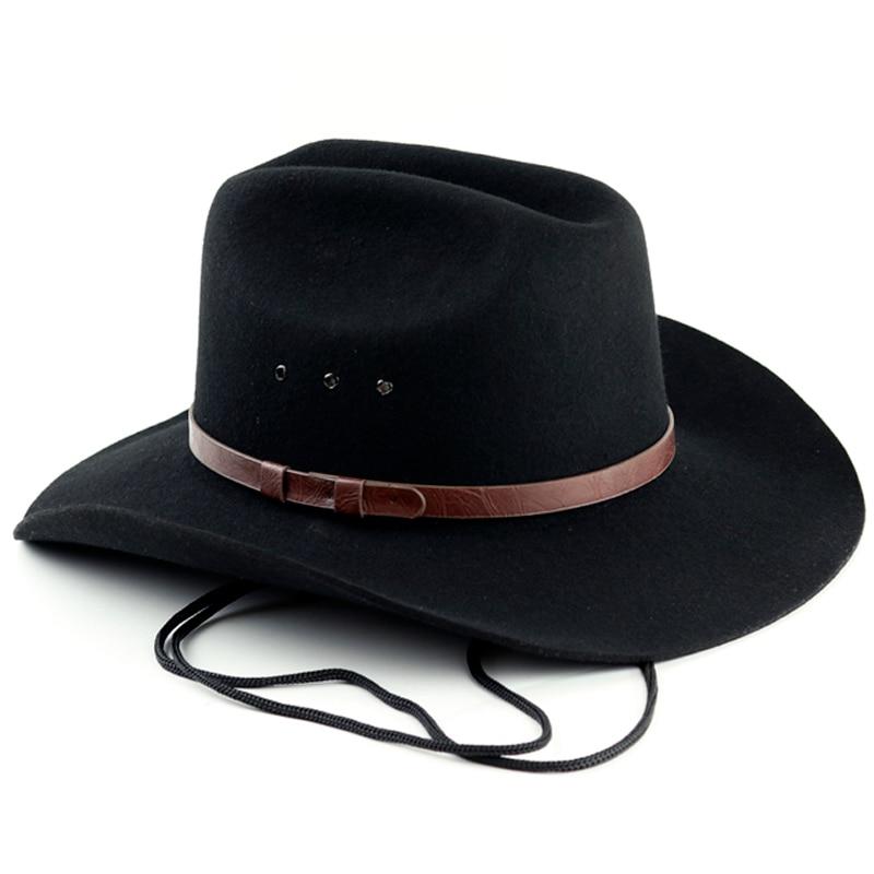 Western 100/% WoolFelt Cowboy Shapeable Hat Black//Brown  Men/'s//Woman/'s Unisex