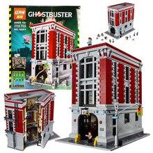 Ghostbusters Firehouse Sede LEPIN 16001 Casa Modelo Kits de Construcción Modelo Conjunto Minifigure Compatibles Con 4695 Unids