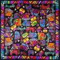 100% Шелковый Шарф Женщин Шарф Кошки Шейный Платок Шарф Дизайнер Шелковый Шарф 2017 Платки Небольшой Площади Шелковый Шарф Роскошные Леди Подарок