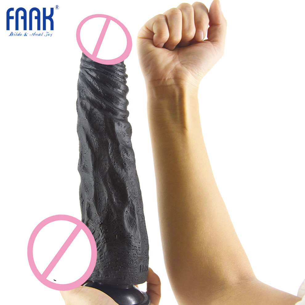 FAAK Realistic Big Dildo PVC Flexible Penis Dick with Strong Suction Cup Huge Dildos Cock Adult Sex Products Sex Toys for Women faak realistic big dildo pvc flexible penis dick with strong suction cup huge dildos cock adult sex products sex toys for women