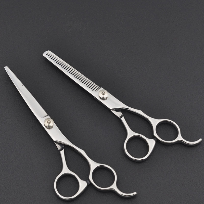 6inch Cut Slimming Stylization Tool Hair Scissors Stainless Steel Salon Hairdressing Scissors Regular Flat Tooth Blades