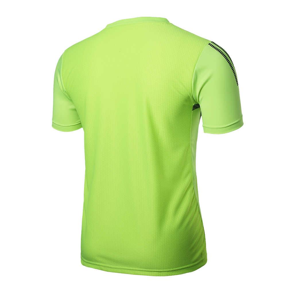2019 새로운 남성 여름 유니폼 티셔츠 스포츠 오-넥 반팔 탑 축구 유니폼 조깅 맞추기 빠른 드라이 t 셔츠 남성