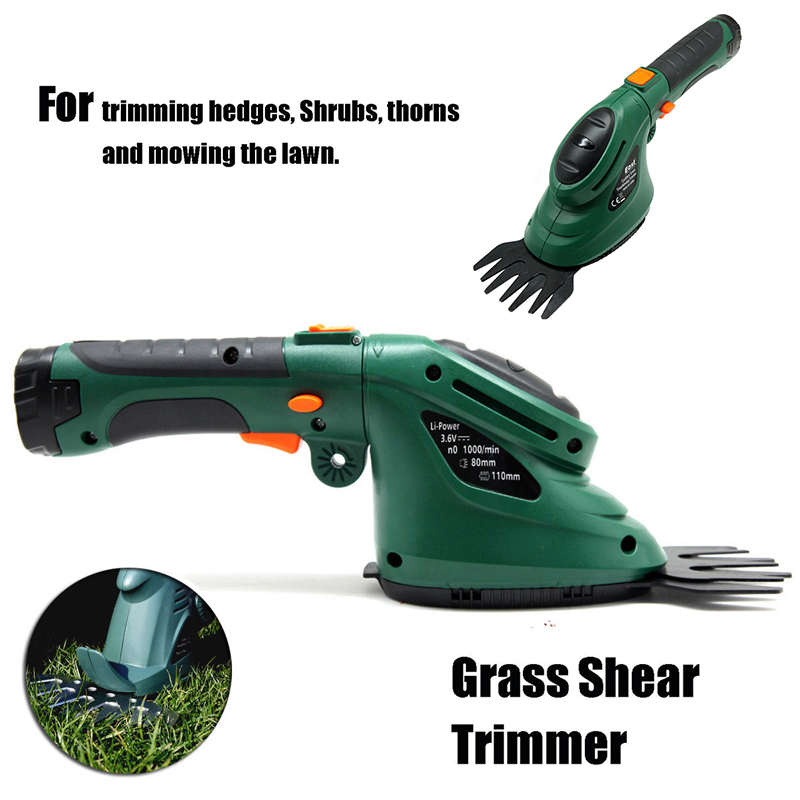 Garden Handheld Cordless Grass Shears Grass Cutter Electric Hedge Trimmer Garden Landscape Pruning Tools Mini Lawn Mower 2016 new garden tools top quality charging grass trimmer portable home lawn mower with wheels trimmer grass trim level machine
