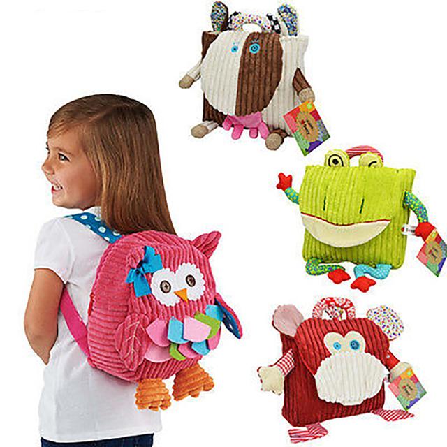 Menino do jardim de infância Mochila de Pelúcia Do Bebê Crianças Escola Bags Para Adolescentes Meninas Kid Plush Saco Do Brinquedo mochila das Crianças Presentes