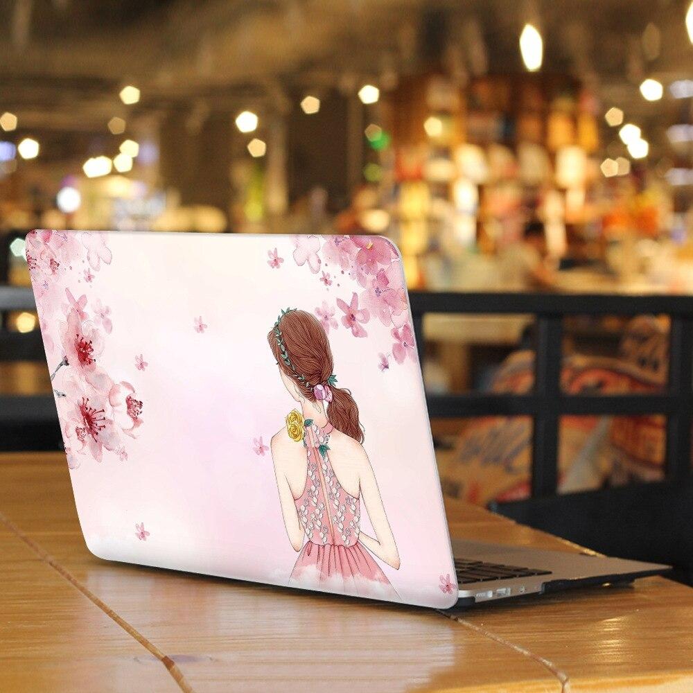 FULCLOUD Laptop Case for Apple Macbook Air/Retina/Pro 11 12 13 15 Laptop Sleeve Beauty pattern Notebook Computer Matte Shell