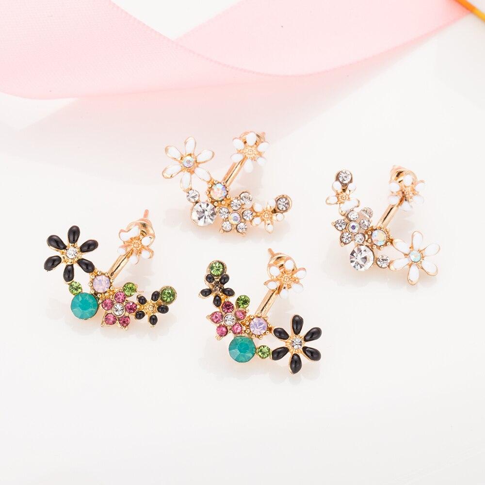 FAMSHIN Fashion Imitation Pearl Earrings Small Daisy Flowers Hanging After Senior Flower earrings Female Jewelry Wholesale