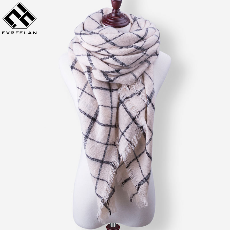 New Fashion Winter Scarf Luxury Brand Ladies Scarves Wraps Women Warm Shawls Scarf For Women Triangle Bandana Drop Shipping