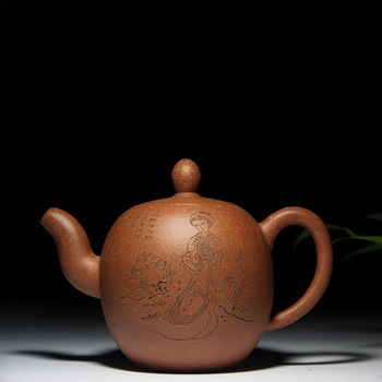 ore down slope mud beauty shoulder pot of special offer authentic recommended yixing purple sand teapot tea gifts
