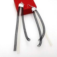 YD&YDBZ New Tassel Earrings For Women Pendant Long Drop Earring Fashion Punk Jewelry Bohemia Creamy-white And Black