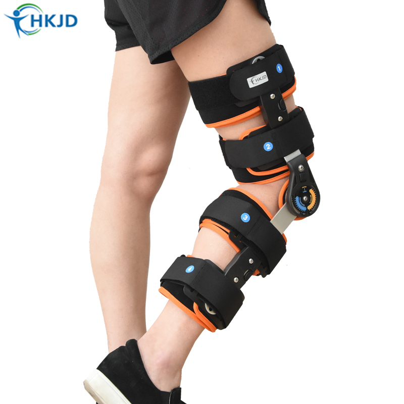 Adjustable angle Knee pads Sports Knee Brace Support Orthopedic Hinged Splint Wrap Sprain Post Op Hemiplegia Flexion/Extension