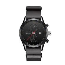 Nuevo 2017 top marca de lujo correa de cuero reloj deportivo los hombres reloj de cuarzo resistente al agua reloj masculino hombres relojes relogio masculino nobda