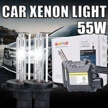 One set H11 xenon kit Slim Xenon HID Kit DC 12V 55W 4300k 5000k 6000k 8000k car xenon light H8 H9 H11 12v dc electronic ballast