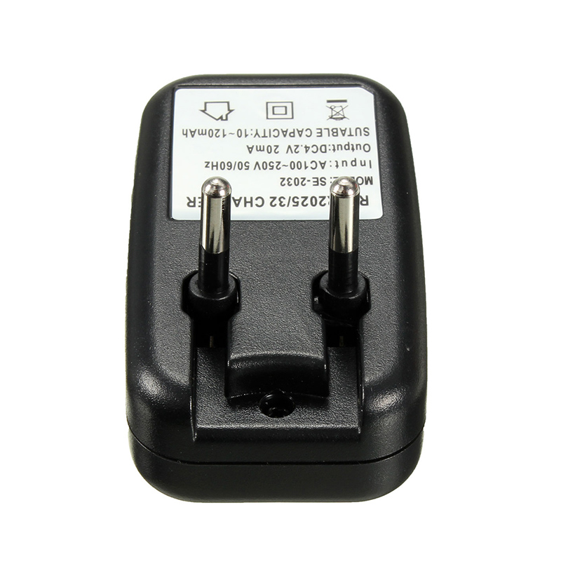 LEORY EU Plug Charger For Li-ion LIR2032 LIR2025 ML2032 ML2025 Coin Button Cell Battery Charger Fast Travel Charging Adapter