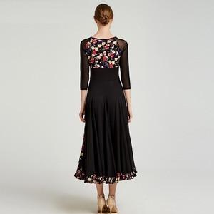 Image 2 - Impressão padrão vestido de salão de baile vestidos de dança padrão flamenco vestido de dança wear traje espanhol vestido de valsa de salão franja