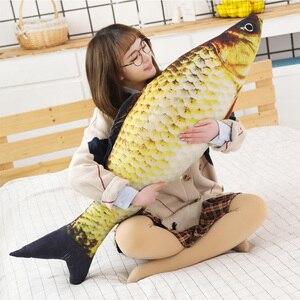 Image 5 - 1pc ファッションシミュレーション鯉ぬいぐるみ魚ぬいぐるみ枕子供クリエイティブソファベッド枕なだめるおもちゃクリスマスギフト