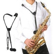 ปรับ Alto Tenor Saxophone อุปกรณ์เสริมสายคล้องคอเข็มขัดดนตรีชิ้นส่วน Sax หรือ Sax สายรัด Transfers