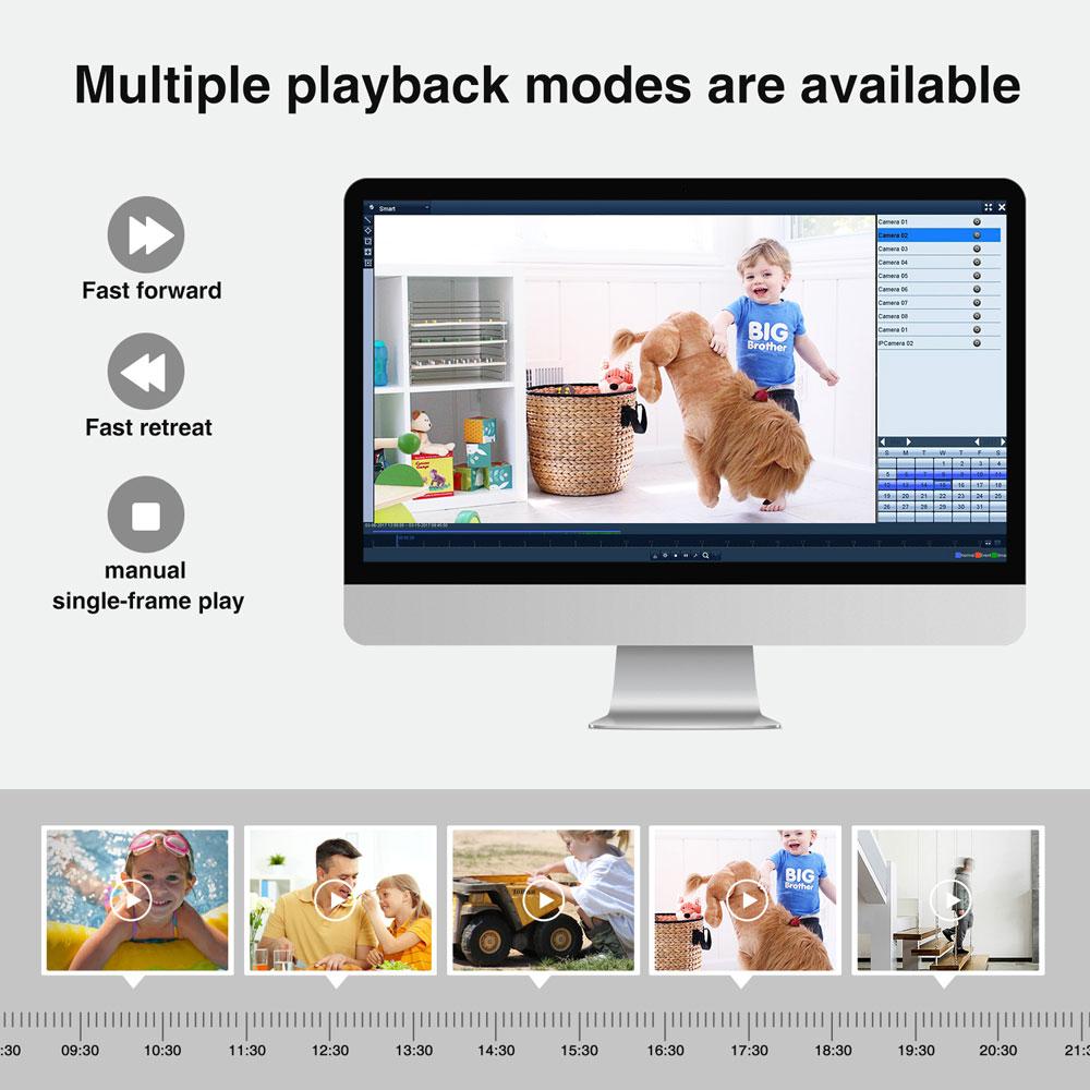 SANNCE 4CH HD 1080P HDMI P2P POE NVR 1TB HDD Sistema de vigilancia - Seguridad y protección - foto 6