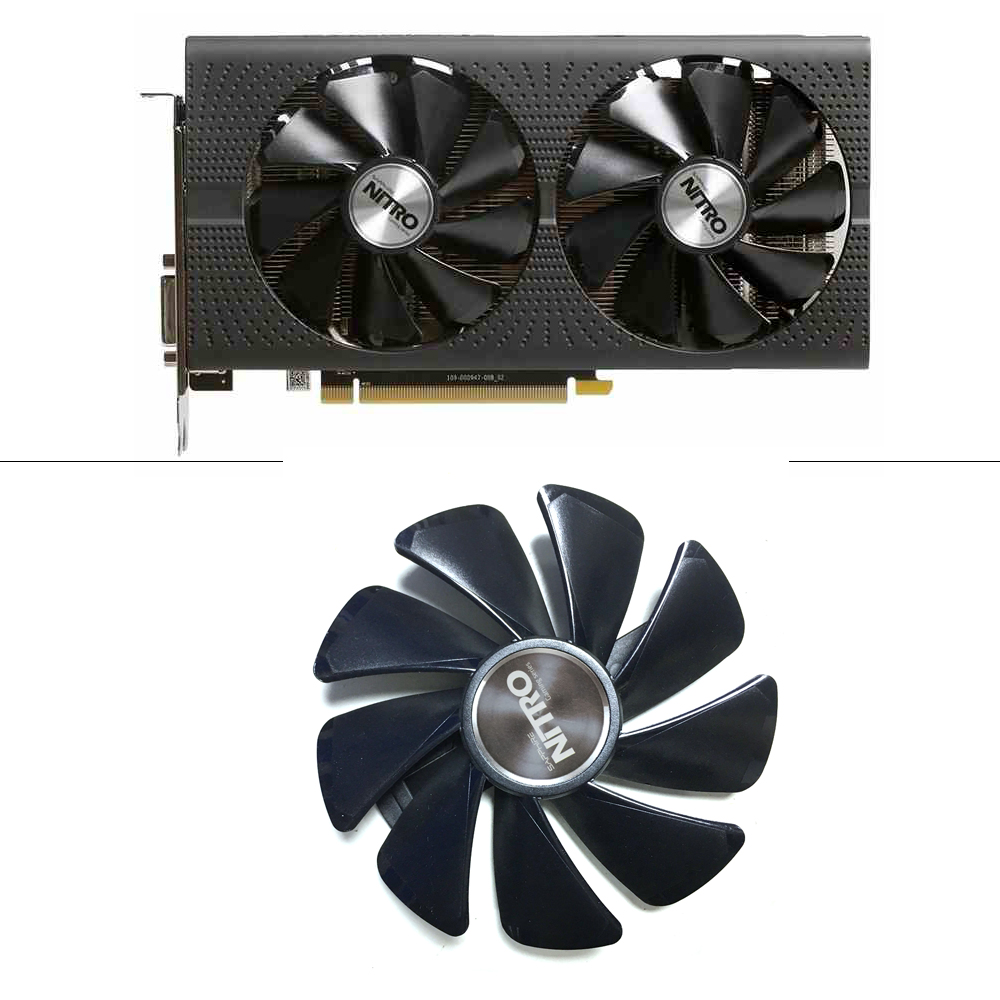 New 95mm CF1015H12D DC 12V PC Cooling Fan Graphics Card Gpu Cooling For Sapphire NITRO RX 580 590 RX480 RX470 8G Video Card Fan