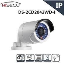 Английская Версия IP камера 4MP Пуля Камеры Безопасности с POE Сетевая камера DS-2CD2042WD-I Видеонаблюдения 4/6/12 мм объектив