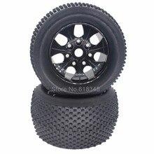 4 unids 140mm 2.8 pulgadas Rueda 1/8 Neumáticos Para Camiones Monstruo DEL RC 17mm hex hub para off road 4wd nitro hsp tornado/e9 94083 partes
