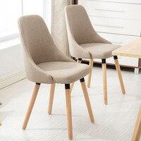 Стул твердой древесины современный минималистский отдых Nordic Рабочий стул для отеля домашний стул Cafe простой стул спинки