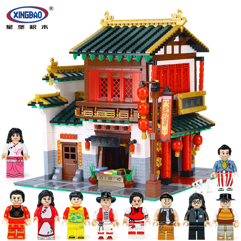 XingBao 01001 2787Pcs Creative Chinese Style The Chinese Silk and Satin Store Set legoinglys Building Blocks Bricks Toys Model john bradley store wars the worldwide battle for mindspace and shelfspace online and in store