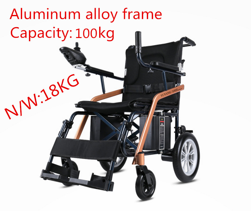 Super lightweight folding electric font b wheelchair b font for font b disabled b font and