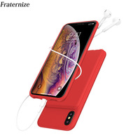 New 5000mAh Portable Soft Liquid Silicone Battery Charger Case For iphone XS Max battery Case Power Bank CaseS For iphoneXS Max