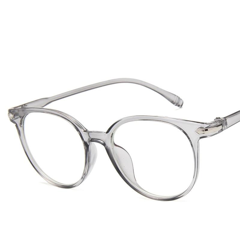 Retro Vintage Glasrahmen Frauen Männer Oval Brillen Rahmen für ...
