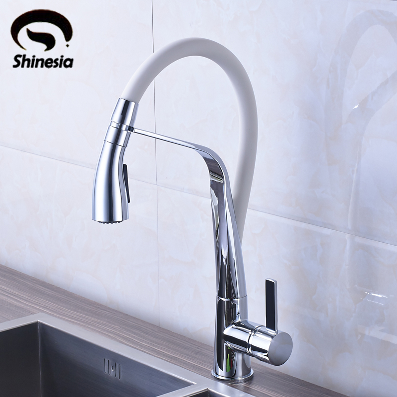 Chrome and White Brass Vessel Sink Mixer Tap Kitchen Faucet Single Handle Hole Deck Mounted fancytrader 32 82cm soft lovely jumbo giant plush stuffed anpanman toy great gift for kids free shipping ft50630 page 7
