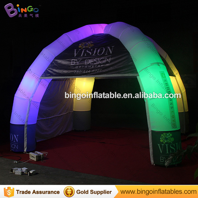 5*5m Portable outdoor Inflatable event tent with LED Lights  Inflatable dome spider tent & 5*5m Portable outdoor Inflatable event tent with LED Lights ...