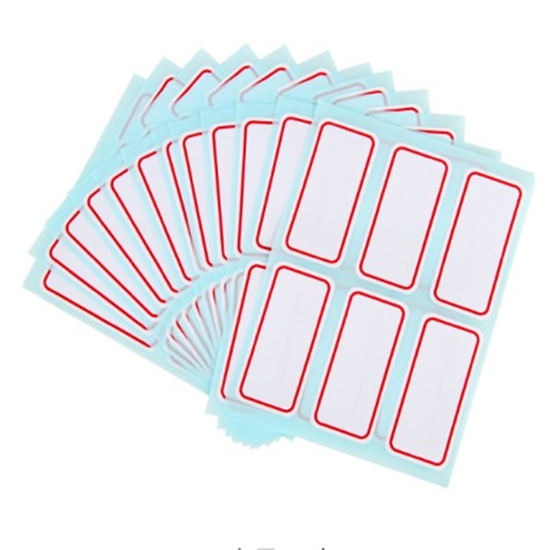 72pcs/lot Stickers Sheets White Self-Adhesive Label Sticker  Sticker Name Number Blank Note Multiple Uses  For Student And Shop